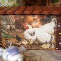 Húsvéti ládika, Dekoráció, Mindenmás, Húsvéti díszek, Ünnepi dekoráció, Decoupage, transzfer és szalvétatechnika, Festett tárgyak, Húsvéti tojástartó ládika. A lányok a tojást adhatják belőle a locsolóknak, a fiúk gyűjthetik benne..., Meska