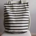 Csíkos táska, Táska, Válltáska, oldaltáska, Varrás,  Vastag vászonból készítettem ezt a nagy pakolós táskát. Vastag tartós vízhatlan anyag A táska mére..., Meska