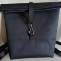 Fekete hátizsák, Táska, Hátizsák, Canvas vászonból ami vízhatlan készítettem ezt a esőben is hordható hátizsákot - Szélessé..., Meska