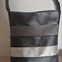 Csíkos pakolós táska , Ezt a táskát már az őszre hangolodva készíte...