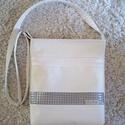 Fehér cross body táska , Jó minőségű Textilbőrből készült táska. M...