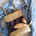 Arany hátitáska, vízhatlan cordurából és arany textilbőrböl k...