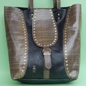 Női bőr táska, Táska, Női táska, kb 40*35cm, kb 80cm-es füllel. Szegecsekkel, fém kapoccsal záródik.A tervezés, a s..., Meska