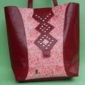 Női bőr táska, Táska, Női táska, kb 40*35cm, kb 80cm-es füllel. Mágnes kapoccsal záródik. Sertésbőr béléssel.A t..., Meska