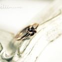 kelta csomó - vörösréz gyűrű, Ékszer, óra, Gyűrű, vékony drótból készült kétcsomós, kétsoros, finom gyűrű. a képen látható belső átmér..., Meska