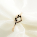 love knot - vörösréz gyűrű, Ékszer, Gyűrű,   vékony, forrasztott, jelképes gyűrű csomót vagy szívet formázva. Kiváló anya- lánya ékszer, barátn..., Meska