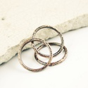 trinity - vörösréz gyűrű, Ékszer, Gyűrű, 3 pöttyösre kalapált felületű, egyszerű, rakásolható vörösréz gyűrű   belső átmérőj..., Meska