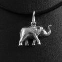 Elefánt  ezüstmedál - szerencsét hoz!, Ékszer, Egyéb, Medál, Nyaklánc, Eredetileg egy kedves vevőm kérésére készítettem 925 ezrelékes ezüstből ezt az álló ormányú, szerenc..., Meska