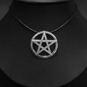 Pentagramma medál ezüstből(nagy), Ékszer, Mindenmás, Medál, Nyaklánc, Ékszerkészítés, Ötvös, A PENTAGRAMMA valószínűleg az egyik leggyakrabban használt szimbólum, talán éppen harmonikus formáj..., Meska