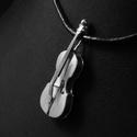 Cselló medál, Ékszer, Egyéb, Medál, Nyaklánc, A cselló más néven gordonka vagy kisbőgő a hegedű után a legdallamosabb vonós hangszer, amelynek han..., Meska