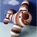 Artúr a horgolt Amigurumi repülő, Baba-mama-gyerek, Játék, Játékfigura, Plüssállat, rongyjáték, Horgolás, Kedves ajándék ez a pici és gyors repülő minden kis pilótának.  Anyaga: 100% pamut fonal  Tömése: v..., Meska