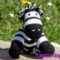 """Horgolt  Zebra  """" Herry """", Baba-mama-gyerek, Játék, Játékfigura, Gyerekszoba, Horgolás, Herry elragadóan bájos és kedves kis zebra. Nagyon várja már, hogy szerető kezek simogassák!  Ez az..., Meska"""