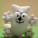 Simon's cat  horgolt cica kicsiben:), Játék, Baba-mama-gyerek, Játékfigura, Plüssállat, rongyjáték, Ez a kicsi Simons cica egy kedves megrendelőm kérésére készült el kicsiben,ha Te is szeretnél egyet,..., Meska