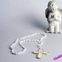 Horgolt Rózsafüzér,kereszt , Dekoráció, Ékszer, Mindenmás, Vallási tárgyak, Kézzel horgolt Rózsafüzér szeretettel..:)  Szép ajándék lehet nagymamáknak,nagypapáknak,gyerekeknek ..., Meska