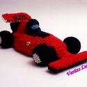 Horgolt Ferrari versenyautó, Játék, Férfiaknak, Dekoráció, Legénylakás, Egy kedves kérésre készítettem ezt a vagàny Ferrari versenyautót. Ha Neked is megtetszett szívesen e..., Meska