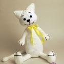 """Horgolt cica """" Szelina """", Játék, Dekoráció, Játékfigura, Plüssállat, rongyjáték, Kedves cica  készült szeretettel!:-) Ha Te is szeretnél egy ilyen cicust,vagy egyedi elképzelésed va..., Meska"""