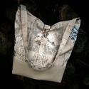 Romantikus  virágmintás táska válltáska, Táska, Válltáska, oldaltáska, Romantikus textilbőr és erős vászon válltáska.2 zsebe van. A táska mérete: 32cm magas 32cm s..., Meska