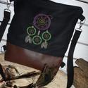 ÁLOMFOGÓ  hátizsák  kettő az egyben , Táska, Hátizsák, Varrás, Hímzés, Hímzett álomfogó mintás  hátizsák.. Kétféleképpen is lehet hordani: táska és hátizsák.Anyaga textil..., Meska