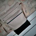 Szürke nagy city bag táska férfi női , Táska, Férfiaknak, Válltáska, oldaltáska, Varrás, Hímzés, .Anyaga  vászon.2 zsebe van,kívül pedig egy zippes zseb található.A táska  mérete: 36cm magas, 33cm..., Meska