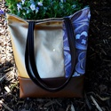 ARANY textilbőr  táska, Táska, Válltáska, oldaltáska, Gyönyörű,elegáns textilbőr   válltáska.Anyaga textilbőr és  vászon.2 zsebe van.A táska  m..., Meska