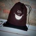 Humoros hímzett hátizsák gymbag barna fekete , Táska, Hátizsák, Mérete tökéletes, mivel minden elfér benne, amire szükséged lehet :) Hossza:40cm, Szélességel: 33cm ..., Meska