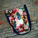 Romantikus virágmintás  steppelt táska, Táska, Válltáska, oldaltáska, Romantikus táska:) Steppelt puha orkán anyagból. Bélése pamut,2 zsebe van.Pántja állítható.2 db pate..., Meska