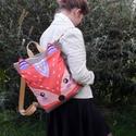 Rókás vízálló hátizsák, Táska, Hátizsák, Ez a hátizsák a szabadságom idején is megvásárolható, mivel készleten van, Kérlek írj üzenetet, ha s..., Meska