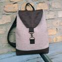 Bézs barna levél mintás   hátizsák,   A táskák kiváló minőségű anyagokból kés...