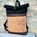 Roll top Pitypangos parafára hímzett roll up hátizsák, Táskáinkhoz mindig  minőségi és erős anyagok...