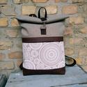 Roll top hátizsák Mandala mintás , Táskáinkhoz mindig  minőségi és erős anyagok...