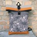 Roll top hátizsák virágmintás, Táskáinkhoz mindig  minőségi és erős anyagok...