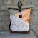 Roll top pasztell hátizsák , Táskáinkhoz mindig  minőségi és erős anyagok...