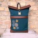 Pitypangos roll top hátizsák, A táskáim kiváló minőségű anyagokból kész...