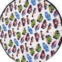 Versenyautós játszószőnyeg, Baba-mama-gyerek, Baba-mama kellék, Gyerekszoba, Falvédő, takaró, Varrás, Mérete: 140 cm átmérőjű Színei: Bézs színű alapon színes mintás Mintázata: versenyautó Alapanyag: 1..., Meska