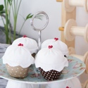 Muffin 4db, Játék, Dekoráció, Készségfejlesztő játék, Dísz, Varrás, Baba-és bábkészítés, Ezek a muffinok vidám hangulatot varázsolnak otthonodba! Gyermekeknek nagyszerű szerepjáték kellék!..., Meska