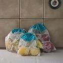 Textil zacskó csomag - S,M,L - Kék levelek, Táska, Szatyor, , Meska