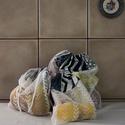 Textil zacskó csomag - S,M,L - Geometrikus, Táska, Szatyor, Varrás, Vásárolj a boltban és piacon ilyen csini, újrahasználható textil zacskókba az egyszer használatos m..., Meska