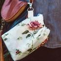 Textil zacskó tartó - Rózsák, Táska, Szatyor, Pénztárca, tok, tárca, , Meska