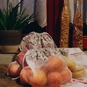 Textil zacskó csomag - S,M,L - Bordó apró virágos, Táska, Szatyor, Varrás, Vásárolj a boltban és piacon ilyen csini, újrahasználható textil zacskókba az egyszer használatos m..., Meska