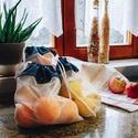 Textil zacskó csomag - S,M,L - Kék horgonyos, Táska, Szatyor, Varrás, Vásárolj a boltban és piacon ilyen csini, újrahasználható textil zacskókba az egyszer használatos m..., Meska