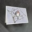 Üdvözlőlap - zsezse, Egyéb, Karácsony, Festészet, Téli ihletésű üdvözlőlap sorozatom egyik darabja. Zsezse. Szórványos téli vendégünk. Magányosan, va..., Meska