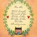 Házi áldás (A5-ös illusztráció), Egy lakás akkor válik igazán otthonná, ha a be...