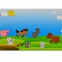 Farm kollekció - 10 db mágneses játék + fémtábla, Baba-mama-gyerek, Dekoráció, Játék, Otthon, lakberendezés, Hímzés, Mindenmás, Kollekciónk egyik csomagja ez a 10 darabból álló, FARM állatait tartalmazó csomag, melyhez tartozik..., Meska