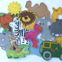 Szavanna kollekció ( 15 db figura  ), Baba-mama-gyerek, Dekoráció, Játék, Otthon, lakberendezés, Kollekciónk egyik csomagja a SZAVANNA, melyben az alábbi  figurák találhatóak meg :elefánt, flamingó..., Meska