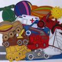 Járművek kollekció - 15 darab mágneses játék, Baba-mama-gyerek, Dekoráció, Játék, Otthon, lakberendezés, Kollekciónk egyik csomagja a JÁRMŰVEK melyben az alábbi mágneses játékok találhatóak meg : autó, aut..., Meska