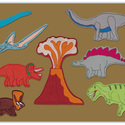 Dinoszaurusz  kollekció - 10 db mágneses játék + fémtábla, Baba-mama-gyerek, Dekoráció, Játék, Otthon, lakberendezés, Kollekciónk egyik csomagja ez a 10 darabból álló, DINOSZAURUSZ csomag, melyhez tartozik egy 40 cm x ..., Meska