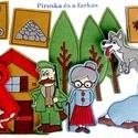 Piroska és a farkas készlet - mágneses figurák, Játék, Kínálatunkban most már ismert mesék figuráit is megtaláljátok., melyekkel garantált a szórakozás.   ..., Meska