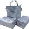 Ezüst táska szett, Táska, Válltáska, oldaltáska, Táska: 7500 Neszeszer: 3000, Meska