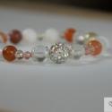 Ikrek karkötő / Gemini bracelet, Ékszer, Karkötő, Ikrek (máj.21 - jún. 20)   A karkötőt a diszkréten fénylő shell pearl gyöngyökből, aventurin kövekbő..., Meska