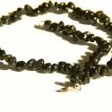 Ónix nyaklánc / Onix necklace, Ékszer, Nyaklánc,  Csillogó fekete ónix ásvány nuggetekből készült nyaklánc.   Hossza (kapoccsal együtt): 48 cm   A sz..., Meska
